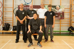 Sifu Tom Collingridge with Students Andy Crowe, Jake Harries and Ashley Scott